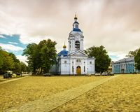 Church in the city of Vyborg, Russia Stock Image