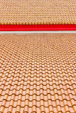 Church clay tiles. In a row stock image