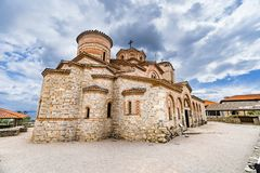 The Church Clement and Panteleimon, Plaoshnik at the shore of Ohrid Lake. Is a UNESCO world heritage site Stock Photography