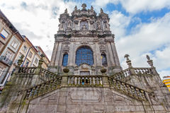The Church of Clerigos in the city of Porto, Portugal Royalty Free Stock Image