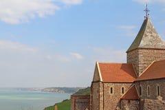 Church on cliff Stock Photo