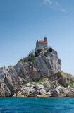 Church on cliff Stock Images