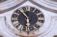 Church Clock Royalty Free Stock Photos