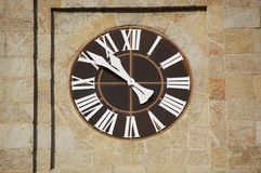Church clock detail Stock Photo