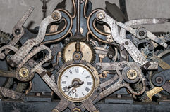 Church clock machinery Royalty Free Stock Images