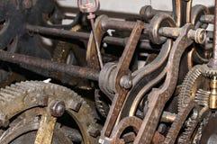 Church clock machinery Royalty Free Stock Photography