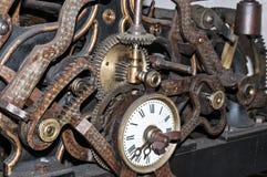 Church clock machinery Stock Images