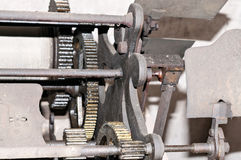 Church clock machinery Stock Images
