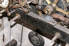 Church clock machinery Royalty Free Stock Photography