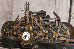 Church clock machinery Stock Photography