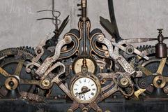 Church clock machinery Stock Photography
