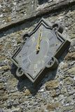Church Clock at midday Stock Photo