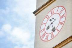 Church clock tower Stock Images