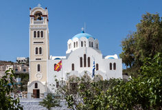 Church Clock tower Fira Santorini Royalty Free Stock Photo