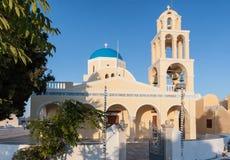 Church Clock tower Fira Santorini Stock Photography