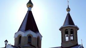 Church close tilting stock video footage