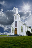 Church & Clouds Royalty Free Stock Photo