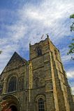 Church and clouds. The church at tutbury Stock Photo
