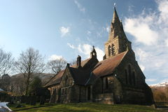 Church and Clouds. Edale Church, UK Royalty Free Stock Image
