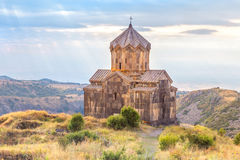 Church in the clouds. Armenia. Church on the slopes of Mount Aragats. Amberd Royalty Free Stock Images