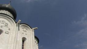 Church and clouds stock video footage