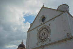 Church. And clouds in central Italy Stock Photos
