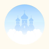 Church in the clouds Royalty Free Stock Image