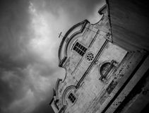 Church in a cloudy day Royalty Free Stock Image