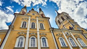 Church on cloudy sky background. Tomsk. Russia Royalty Free Stock Photos