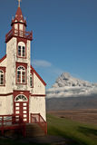 Church clouse to volcan Stock Photography