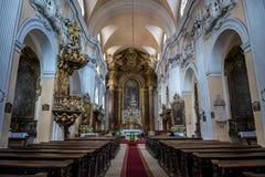 Church in Cluj-Napoca. Interior of Church of The Holy Trinity in Cluj-Napoca city in Romania Stock Photos