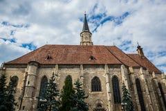 Church in Cluj-Napoca. St. Michael's Church in Cluj-Napoca city in Romania Stock Images