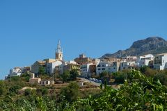 The village of Parcent, Costa Blanca, Spain Royalty Free Stock Images