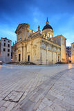 Church on a cobbled street in Dubrovnik Stock Image