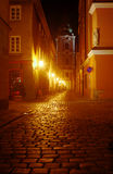 A church and cobbled street Royalty Free Stock Photography