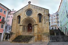Church in Coimbra square Stock Images