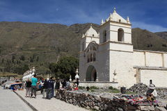 Church in the Colca Canyon Royalty Free Stock Image