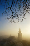 Church In Cold Foggy Winter Morning Royalty Free Stock Images