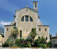 Church Collegiata dell'Assunta of Arco Stock Images