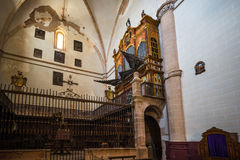 Church. Collegiate church of Santa Maria of the Asuncion Medinaceli Soria, Spain Stock Photography