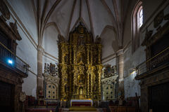 Church. Collegiate church of Santa Maria of the Asuncion Medinaceli Soria, Spain Royalty Free Stock Images