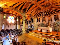 Church in Colonia Guell Stock Photography
