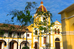 Church and Colonial Architecture. Church of the Immaculate Conception and colonial architecture in Mompox, Colombia Royalty Free Stock Photos