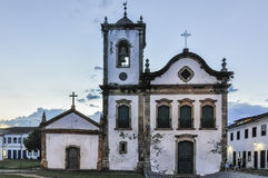 Church in the Colonial Town of Paraty, Brazil Royalty Free Stock Image