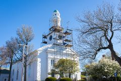 Church construction. With blue sky Stock Images