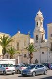 Church and convent del Carmine Trani. Apulia. Italy. Baroque church and convent del Carmine, Facing the harbour.  Trani. Apulia. Italy Stock Photos