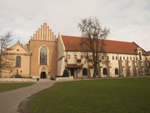 Church and convent of the Franciscan Order in Krakow Stock Images