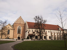 Church and convent of the Franciscan Order in Krakow Royalty Free Stock Photo