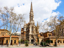 Church   of the Salesians in Barcelona Stock Photography