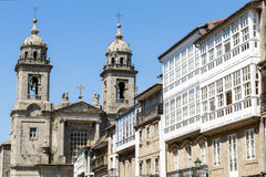 Church and convent of San Francisco. Santiago de Compostela. Gal Stock Photos